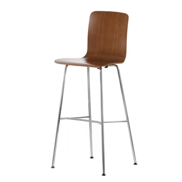 Vitra - Hal Ply Stool high, walnut