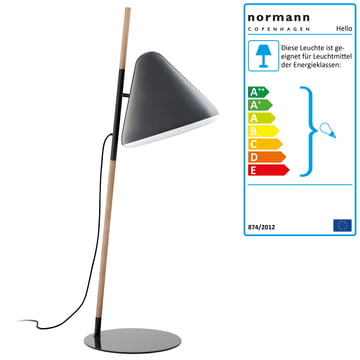 Normann Copenhagen - Hello Floor lamp, grey