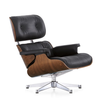vitra lounge chair in walnut black in the shop. Black Bedroom Furniture Sets. Home Design Ideas