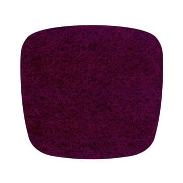 Hey Sign - felt-seat Eames Plastic Armchair, aubergine 5mm