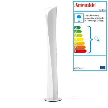 Artemide - Cadmo floor lamp, white / white