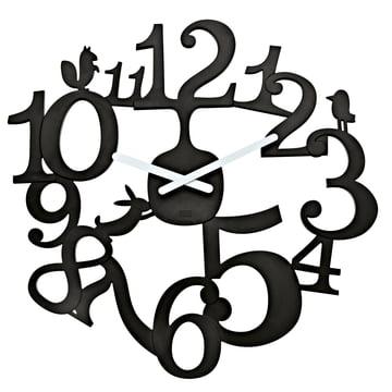Koziol - [pi:p] wall clock, black
