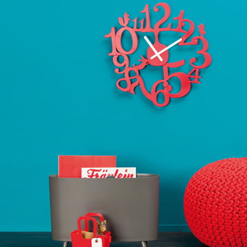 Koziol - [pi:p] wall clock, Red