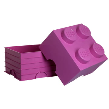 Lego - Storage Box 4, pink - open