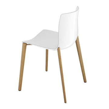 Arper - Catifa 46 Chair, four-legged, white polypropylene, with