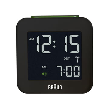 Braun - Digital Funk Alarm-Clock BNC008, black - front