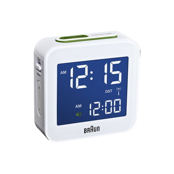Braun - Digital Funk Alarm-Clock BNC008, white - light on