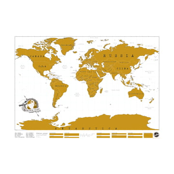 Luckies - Scratch Map world map for scratching