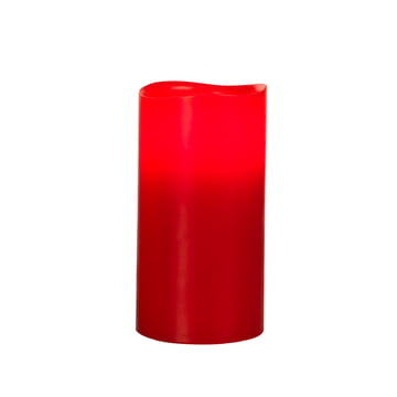LED Pure Wax Candle, red wax L