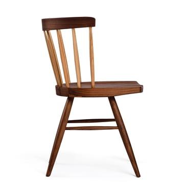 Knoll - Straight Chair, walnut wood