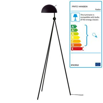 Radon Floor Lamp by Lightyears in Nigra (Black / Black)