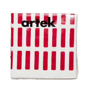 Artek - Siena paper napkin, large, red/ white