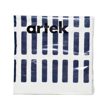 Artek - Siena paper napkin, large, white/ blue