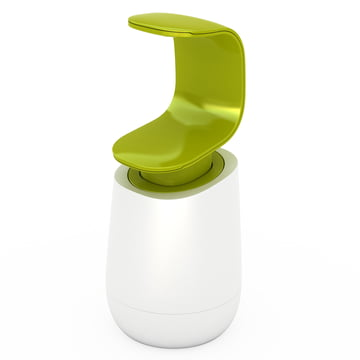 Joseph Joseph - C-pump soap dispenser, white/ green