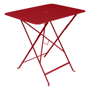Bistro folding table, 77 x 57 cm, from Fermob in poppy red