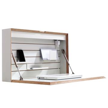 Müller Möbelwerkstätten - Flatbox, white - open, deco, side