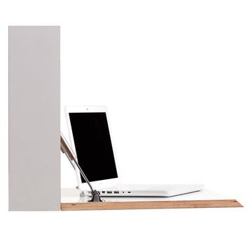 Müller Möbelwerkstätten - Flatbox, white - open, laptop, side