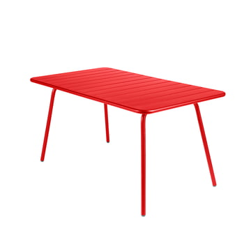 Fermob - Luxembourg Table, rectangular, poppy red