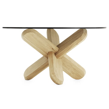 Normann Copenhagen - Ding Couch table, smoked, oak - lateral
