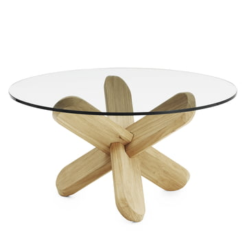 Normann Copenhagen - Ding Couch table, glass, oak