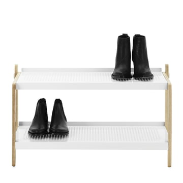 Normann Copenhagen - Sko shoe rack, white - with shoes