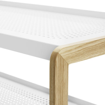 Normann Copenhagen - Sko shoe rack, white - wooden edge