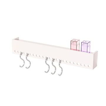 Nomess - So-Hooked Coat Rack, white, 60 cm