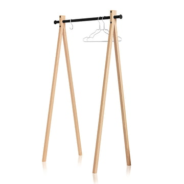 Nomess - Dress-Up Coat rack, ash wood, black, 90cm