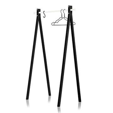 Nomess - Dress-Up wardrobe, black, white, 90 cm