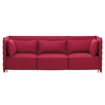 Vitra - Alcove Plume Sofa, red - 3 seats