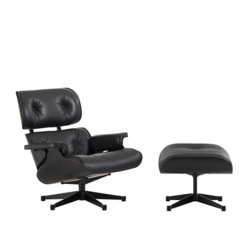 Vitra - Lounge Chair & Ottoman - black ash wood