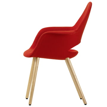 Vitra - Organic Conference Chair, red/ natural ash wood - side