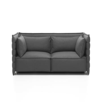Vitra - Alcove Plume Sofa, dark grey - 2 seats