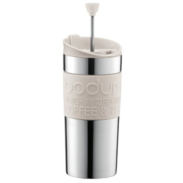 Bodum - Travel Press - stainless steel, 0.35L, cream