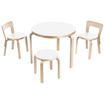 Artek - Table 90B children's chair N65 and children's stool NE60
