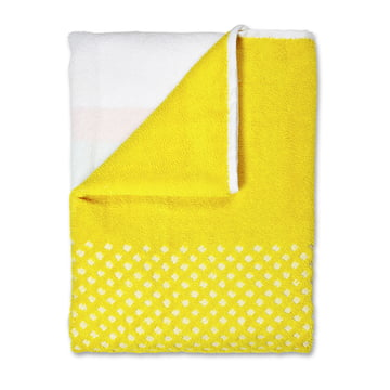 Hay - Bath Mat, autumn yellow - folded, top