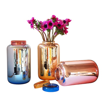 Pulpo - Container Vase - group, colours with flowers