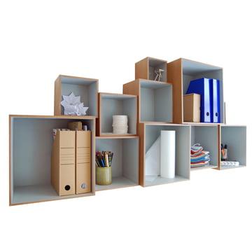 OK Design - Babushka Boxes, grey - filled
