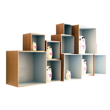 OK Design - Babushka Boxes, grey - with Babushkas