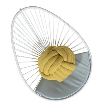 OK Design - The Acapulco Chair, white, cushion grey - top