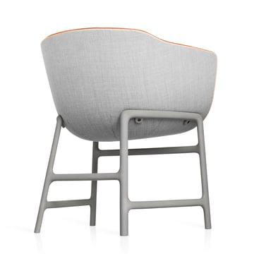 Fritz Hansen - Minuscule Chair, grey 123, orange 443 - backside