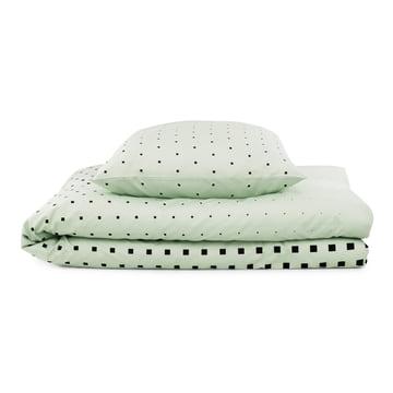 Normann Copenhagen - Cube bed linen, Mint / fold