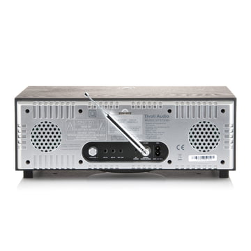 Tivoli Audio - Music System+ BT, black / silver, backside