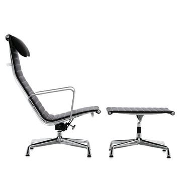 Vitra - Aluminium Group EA 124 + EA 125, Hopsak black