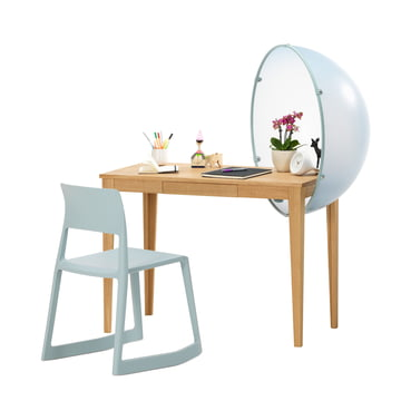 Vitra - Sphere Table, group blue, with Tip Ton