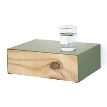 Lessing - Drawer box, green - with water glass