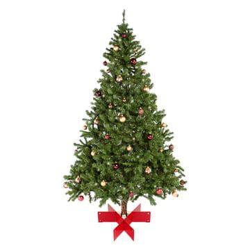 Keilbach - Halleluja Christmas tree stand, red - with tree