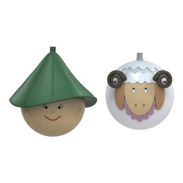 A di Alessi - Pastorello and Pecorello Christmas Bauble Set
