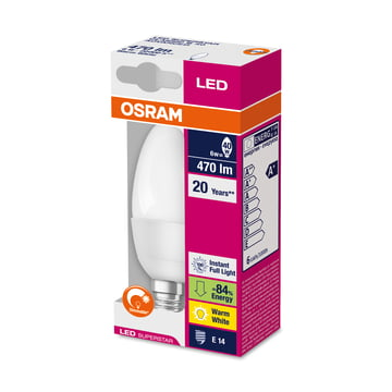 Osram - LED Supers Clas B 40 adv, E14, frosted - package