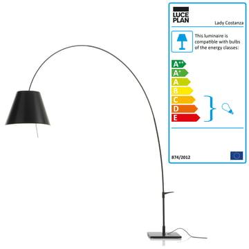 Luceplan - Lady Costanza Floor Lamp, black